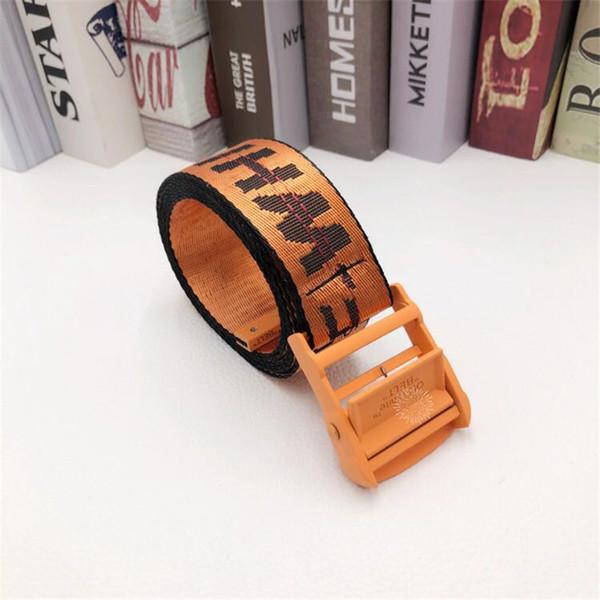 Cinturón naranja naranja hebilla