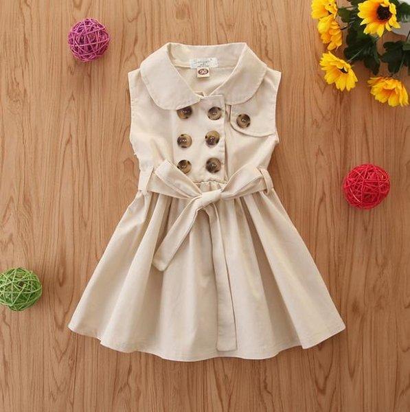 # 3 Двойной Брестед Дети платье