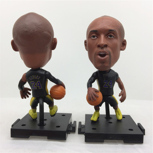 top popular 2.55 Inches Basketball Star Doll Assembly Base 24#Kob Bryan Figurine 3 Kinds Kits for Christmas Birthday Children Gift 2020 design 2020