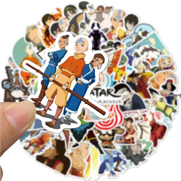 best selling 50pcs set Avatar: the last Airbender anime Small waterproof stickers for diy Skateboard Suitcase Guitar Luggage Laptop