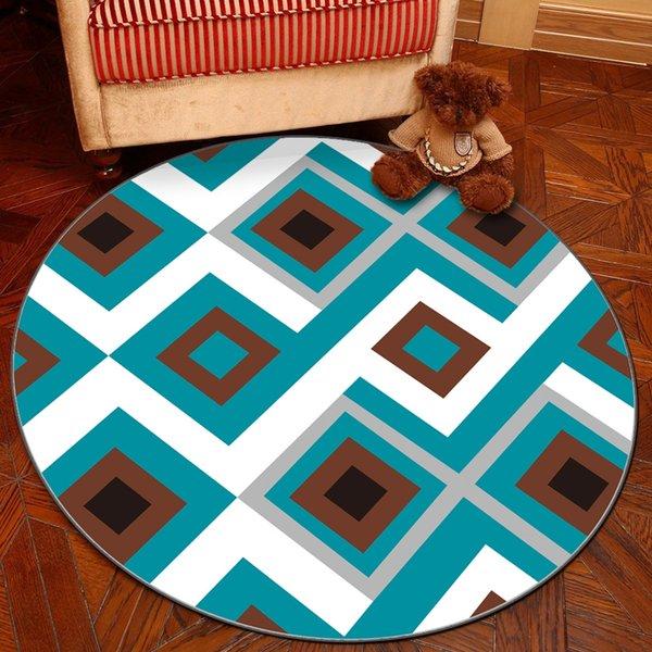 personnalisé Blue Square-180cm