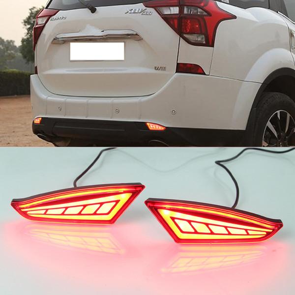 best selling 1 Pair LED Reflector light LED Rear Bumper Lamp Braking Light Rear Fog Lamp For Mahindra XUV500 2018 2019