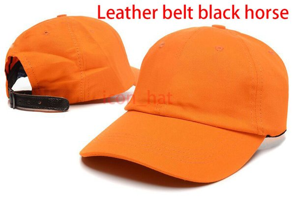 Orange with Leather belt black horse