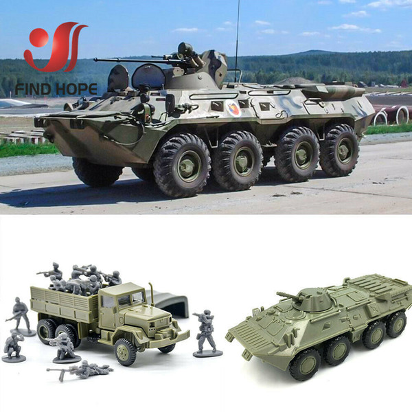 best selling 3d Puzzle BTR-80 Armored Carrier M35 Cargo Truck Building Block Assembling Military Vehicles Model Army Wholesale