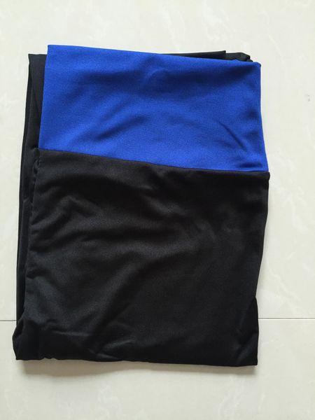 Negro + azul zafiro cintura Cabeza