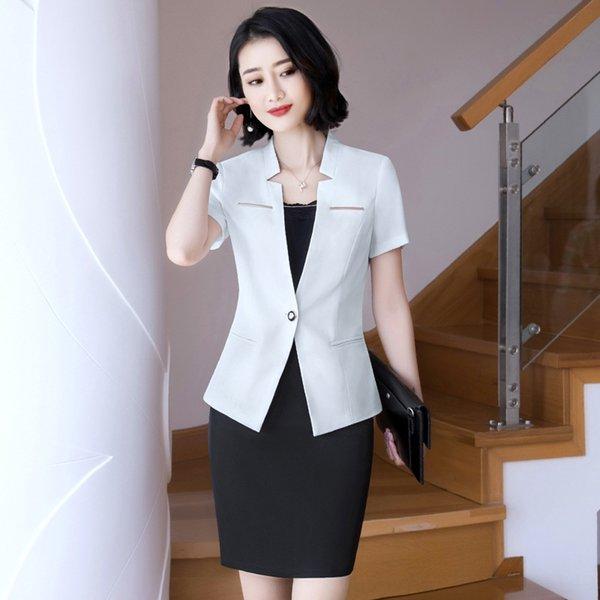 Traje blanco Falda Negro +