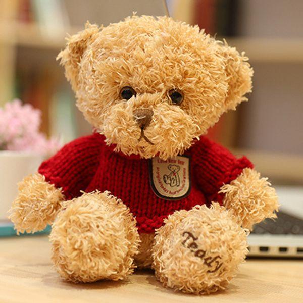 Light brown red sweater bear