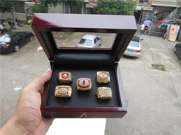 5pcs Redski n Ring Set with wooden box