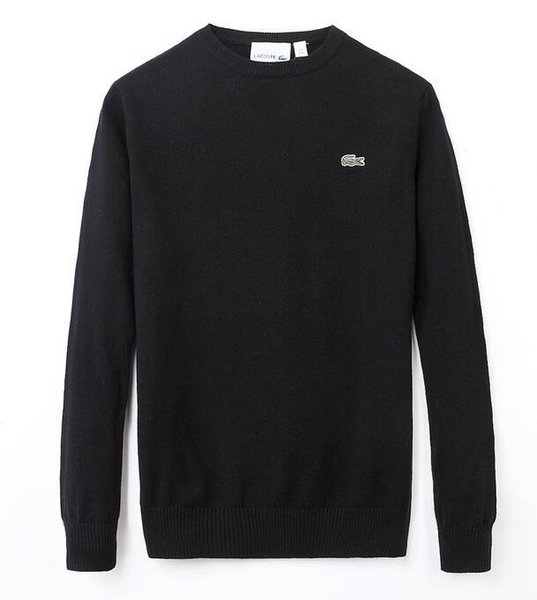 top popular 2020 2020 Mens Size M-XXL 2020 New High Quality polo Men's Twisted Needle Sweater Knitted Cotton O-neck Sweater Pullover Sweater Male 2020