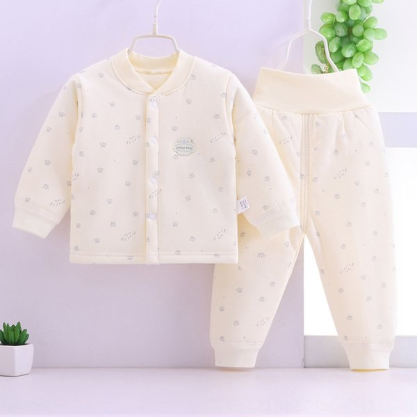 yellow Crown cotton-padded clothes two-p
