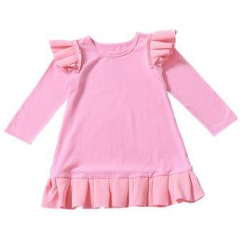 # 2 fliegende Ärmel Mädchenkleider