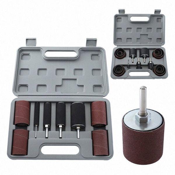 top popular Sanding Drum with Case 20pcs 25pcs Sanding Belts #80 #120 Sandpaper for Engraving Polishing Rotary Tool PB0M# 2021