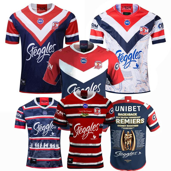 top popular New 2018 2019 2020 2021 SYDNEY ROOSTERS rugby Jerseys NRL Rugby champion League training jersey 19 20 shirts 2020