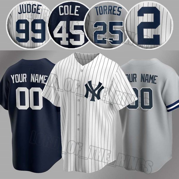 top popular Custom Yankees Jersey 99 Aaron Judge Jerseys 45 Gerrit Cole Jersey 2 Derek Jeter Jersey 24 Gary Sanchez 27 Giancarlo Stanton Baseball 2020