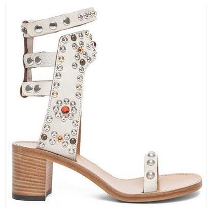 White 6cm heel