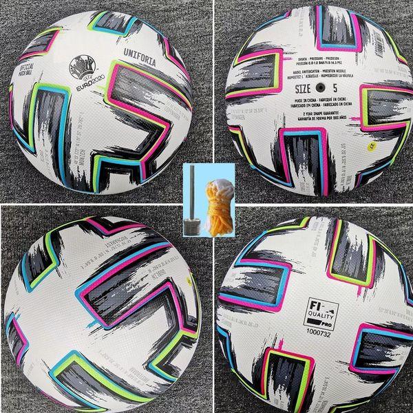 top popular Top quality European Cup size 4 Soccer ball 2020 Final KYIV PU size 5 balls granules slip-resistant football Free shipping high quality ball 2021