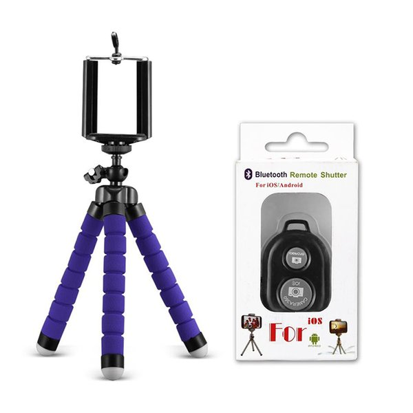 Holder&Bluetooth Remote Shutter-Blue