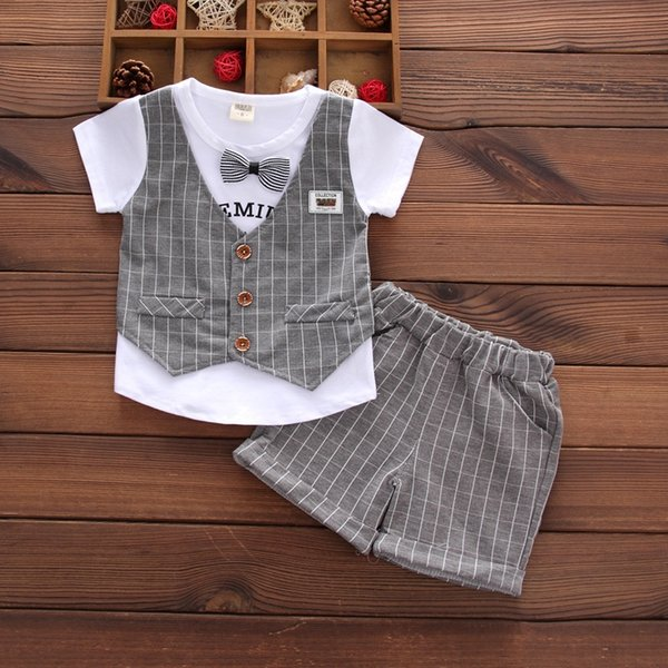 bao short-sleeved vest Gray