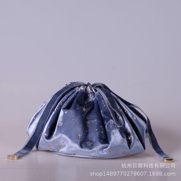 Pigro Makeup Bag-barocca blu