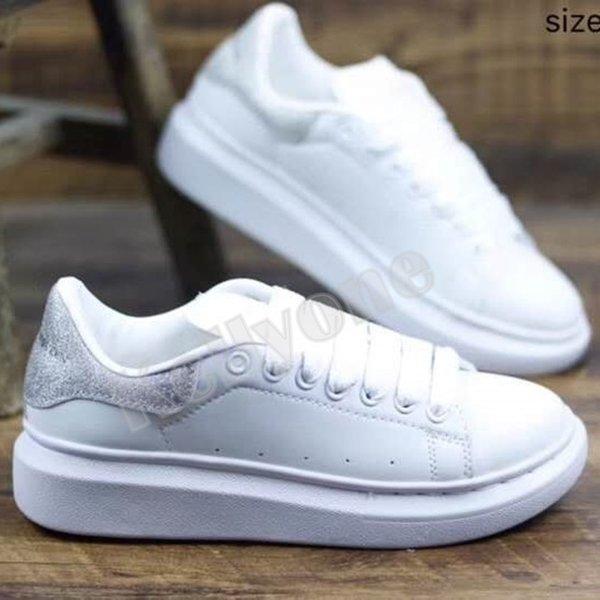 # 12 White Silver Glitter