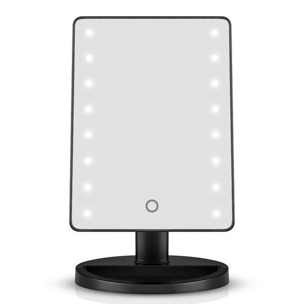 16 LED зеркало черный