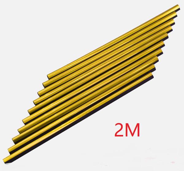 oro, 2 m de largo