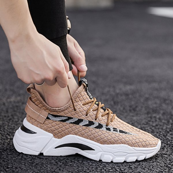 Men Sneakers Summer Breathable Running Shoes Men High Quality Outdoor sports Fitness Training Shoes Lace-up Men shoes