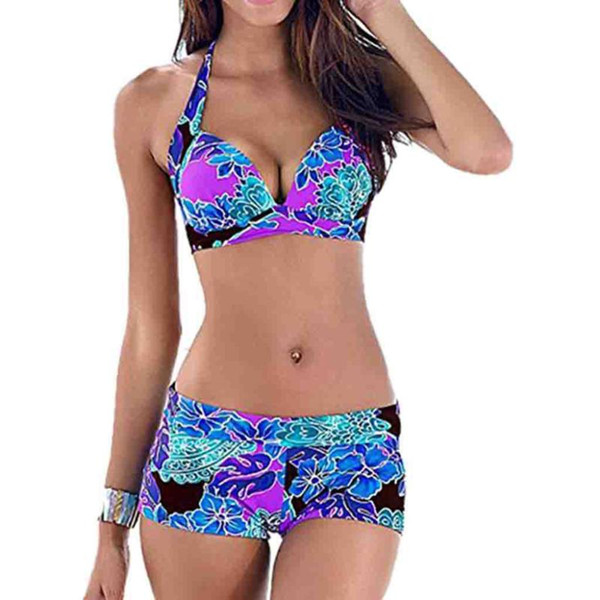 top popular Women Summer Fashion Dot Print Beachwear Siamese Condole belt vest Set 2-13 2021