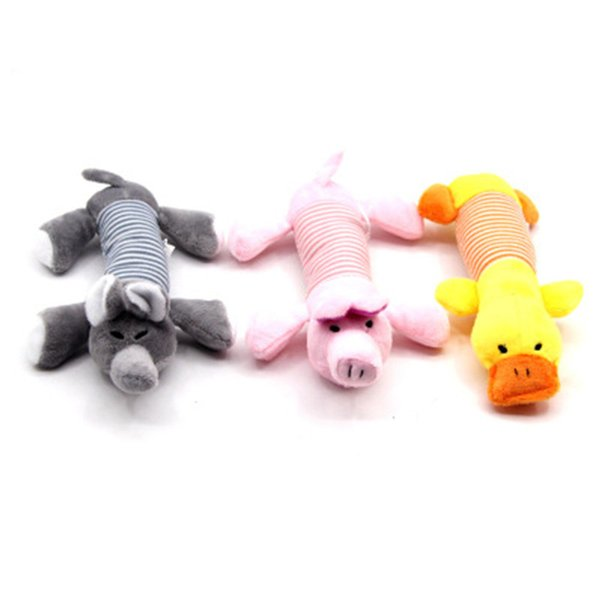 top popular Dog Toys Pet Puppy Chew Squeaker Squeaky Plush Sound Duck Pig & Elephant Toys 3 Colors Pets Sound Toys 2021