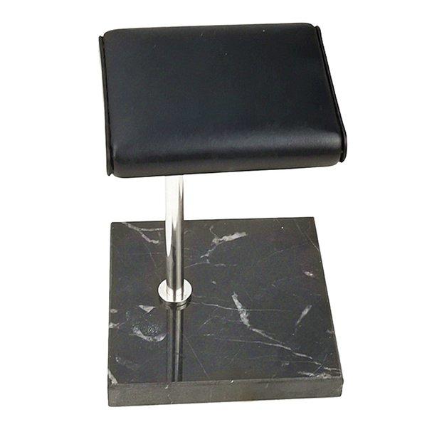 Siyah Mermer Baz + Gümüş Standı