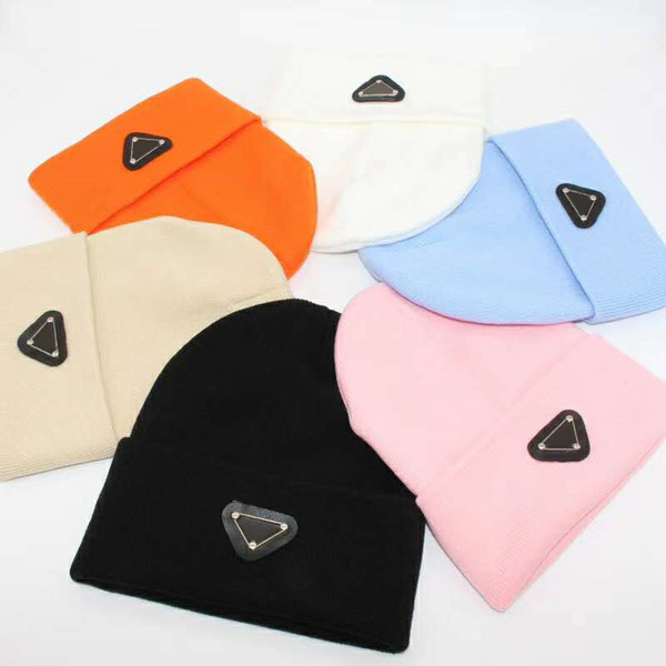 top popular Fashion Beanie Man Woman Skull Caps Warm Autumn Winter Breathable Fitted Bucket Hat 7 Color Cap Highly Quality 2021