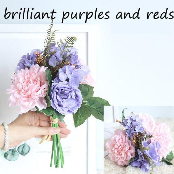 brillante Purpur und Rottöne