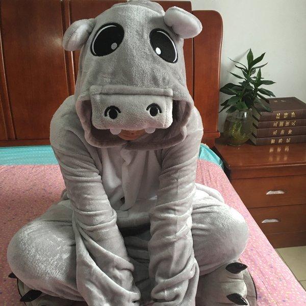 Botón gris Hippo