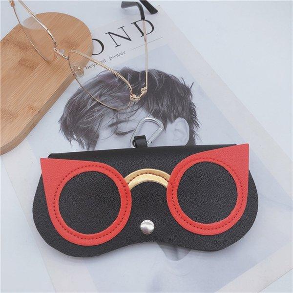 black red glasses
