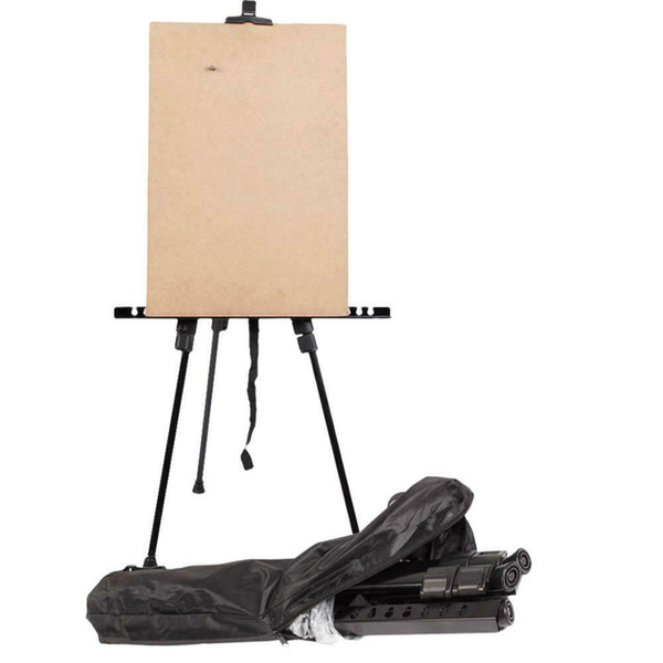 top popular Hot Folding Artist Telescopic Painting Easel Tripod Display Stand Craft Supplies 2021