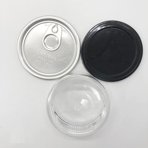 klar Blechdose, mit schwarzer Abdeckung