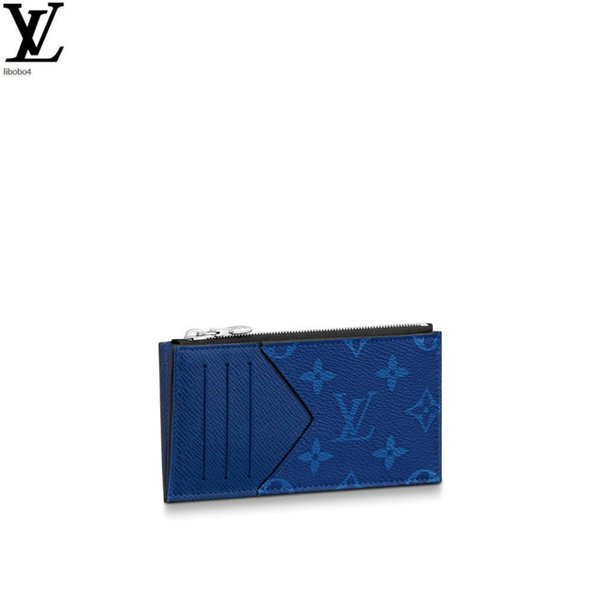 best selling Libobo4 M30270 Blue Flower Coin Card Holder Long Wallet Chain Wallets Compact Purse Clutches Evening Key