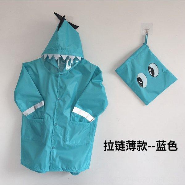 blu [cerniera aggiornato sottile] solo raincoa