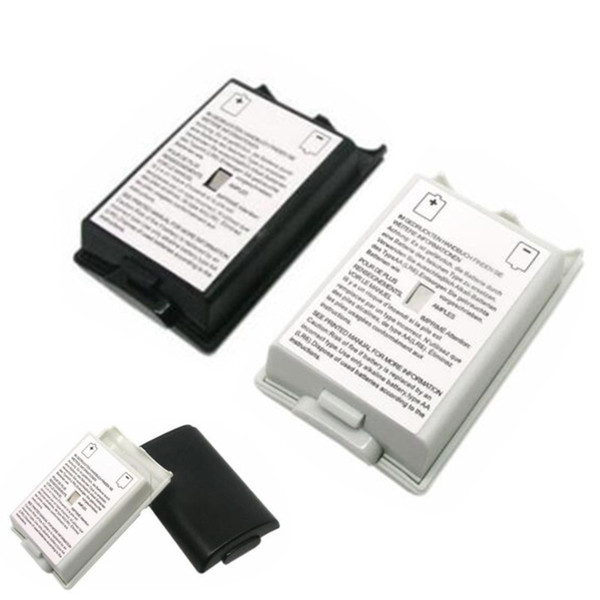 best selling Black & white Battery Case Cover Shell For Xbox 360 xbox360 Wireless Controller Rechargeable Battery