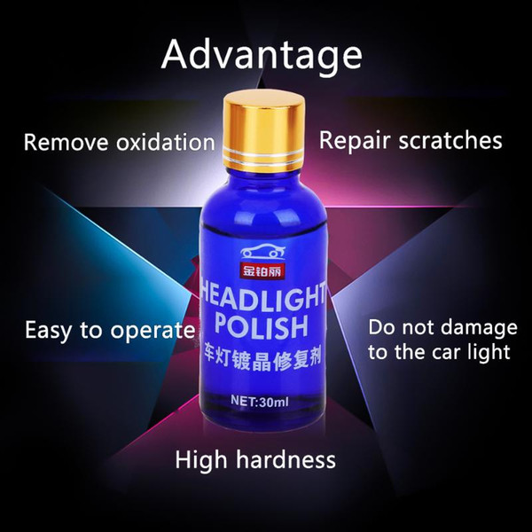 top popular 30ML Car Headlight Repair Coating Solution Repair Kit Oxidation Rearview Coating Headlight Polishing Anti-scratch Liquid 2021