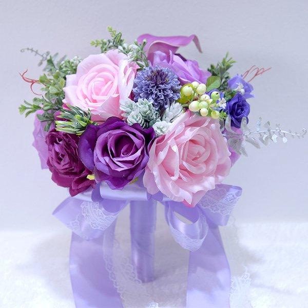 lila Blumenstrauß nur