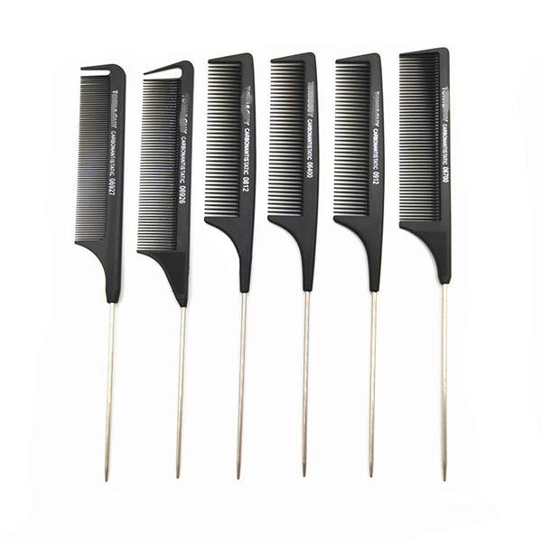 top popular Professional Anti-Static Rat tail comb Metal hair comb hair salon use hair beauty tool Toni and Guy 2020