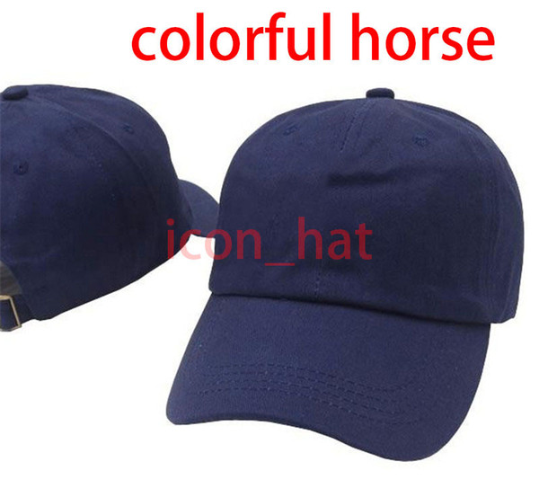 Navy blue with Colorful horse