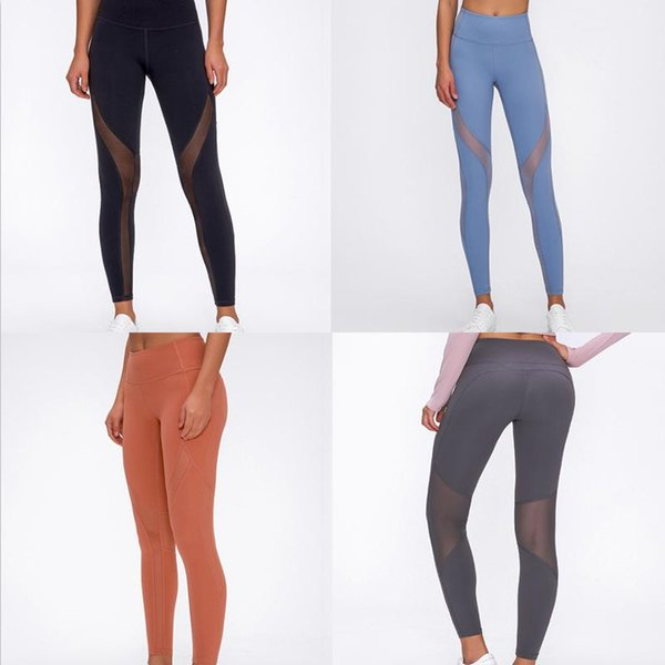 best selling [TOP Quality] newest Solid Color womens yoga pants High Waist Sports Wear leggings Elastic Fitness yogaworld overall tights workou 33zc12