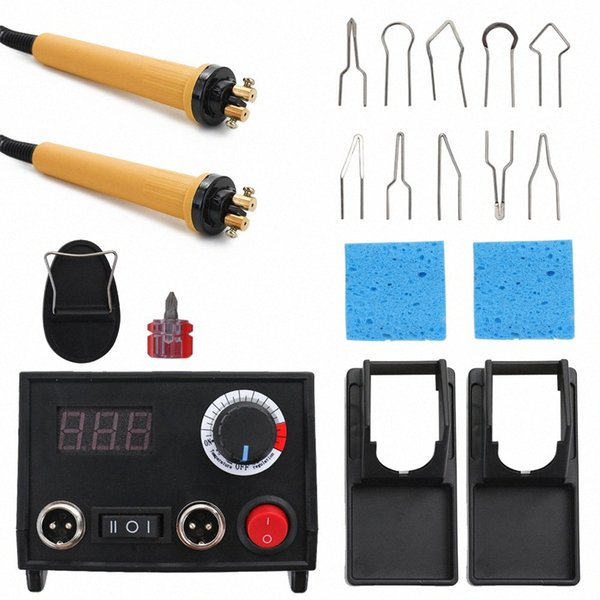 top popular Adjustable Temperature Wood Burner Pyrography Pen Burning Machine Gourd Crafts Tool Set with 20 pieces various wire tips 2 Pen v8ec# 2021