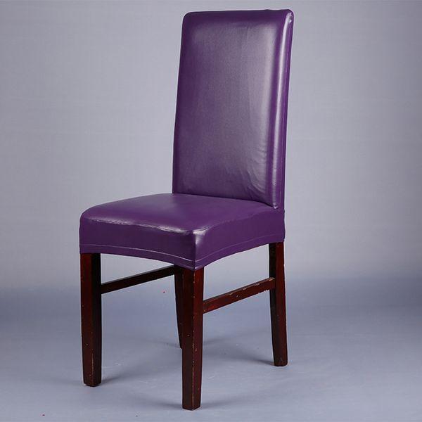 cubierta de la silla de la PU sólido de color púrpura