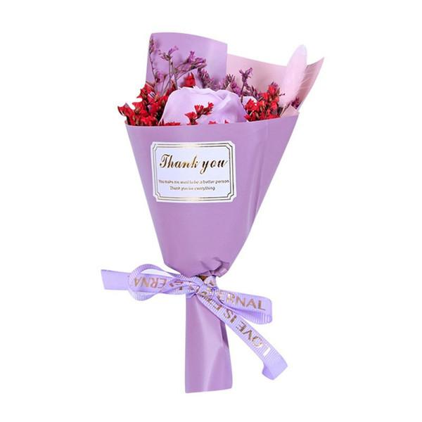 rosa púrpura solo