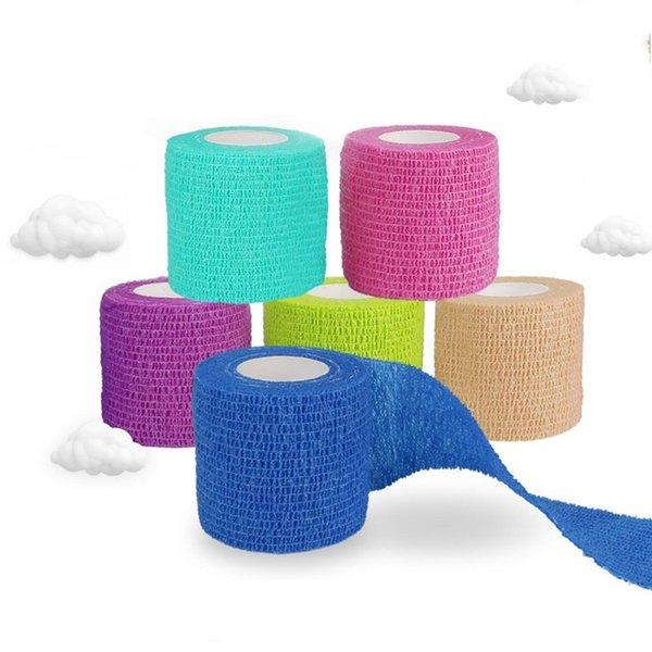 ports Safety Elbow Knee Pads Elastic bandage self-adhesive bandage medical sport tape vendas adhesivas deporte vendaje venda cohesiva fin...