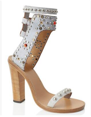 White 11cm heel