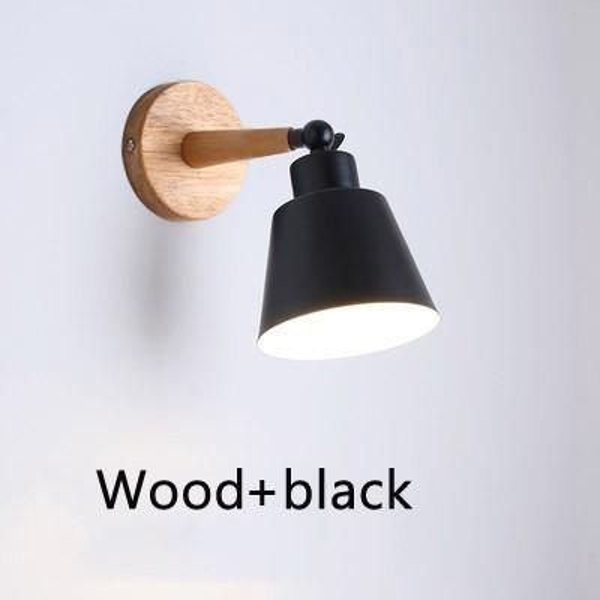 Wood black without bulb Warm White